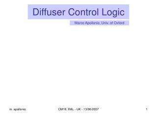 Diffuser Control Logic