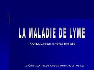 A.Criqui, D.Medan, R.Nemoz, P.Philippe