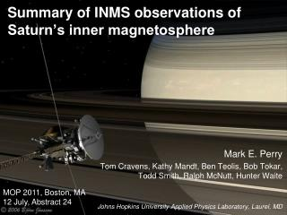 Summary of INMS observations of Saturn's inner magnetosphere