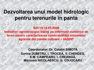 Coordonator: Dr. Catalin SIMOTA