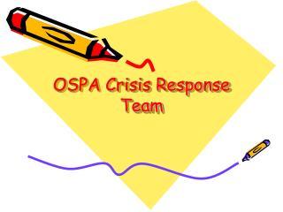 OSPA Crisis Response Team