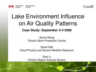 Lake Environment Influence on Air Quality Patterns