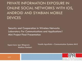 Security and Cooperation in Wireless Networks Laboratory For Communications and Applications1