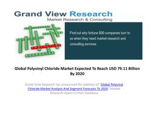 Polyvinyl Chloride Market Analysis &Forecast to 2020
