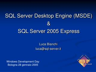 Luca Bianchi luca@sql-server.it