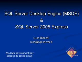 Luca Bianchi luca@sql-server.it