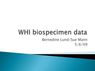 WHI biospecimen data