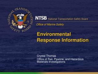 Environmental Response Information