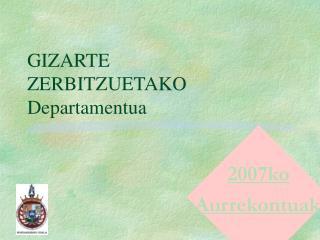 GIZARTE ZERBITZUETAKO Departamentua