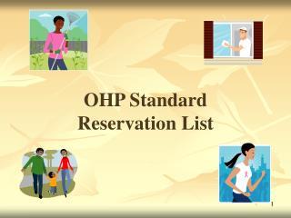 OHP Standard  Reservation List