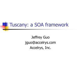 Tuscany: a SOA framework