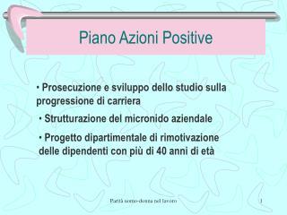 Piano Azioni Positive