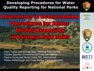 Developing Procedures for Water Quality Reporting for National Parks