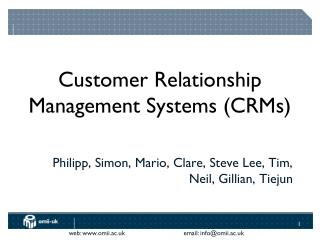 Customer Relationship Management Systems (CRMs)