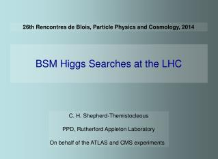 26th Rencontres de Blois, Particle Physics and Cosmology, 2014