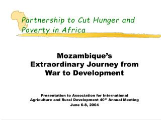 THE PARTNERSHIP TO CUT HUNGER IN AFRICA