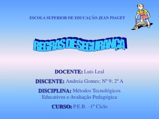 ESCOLA SUPERIOR DE EDUCAÇÃO JEAN PIAGET