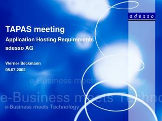 TAPAS meeting