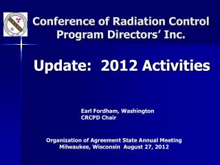Conference of Radiation Control Program Directors' Inc.