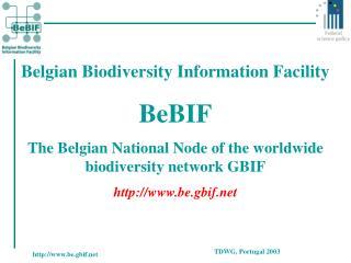Belgian Biodiversity Information Facility BeBIF