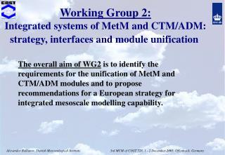 WG2 activities: