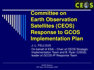 Committee on  Earth Observation Satellites (CEOS) Response to GCOS Implementation Plan