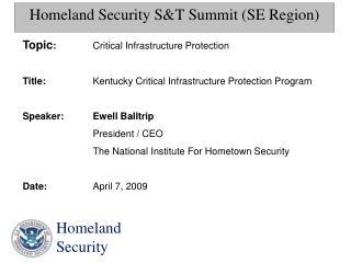 Homeland Security S&T Summit (SE Region)