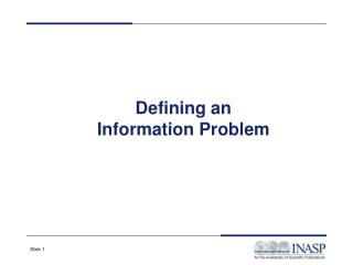 Defining an Information Problem