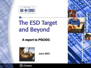 A report to PSCIOC