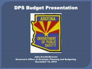 DPS Budget Presentation