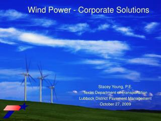Wind Power - Corporate Solutions