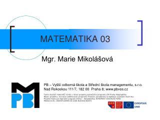 MATEMATIKA 03