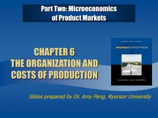 CHAPTER 6  THE ORGANIZATION AND COSTS OF PRODUCTION