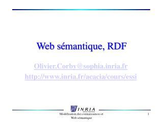 Web s mantique, RDF
