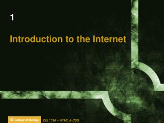 1 Introduction to the Internet
