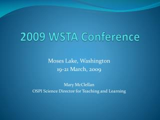 2009 WSTA Conference