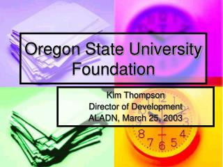 Oregon State University Foundation