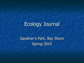 Ecology Journal
