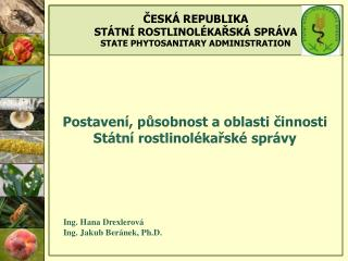 Postavení, působnost a oblasti činnosti Státní rostlinolékařské správy