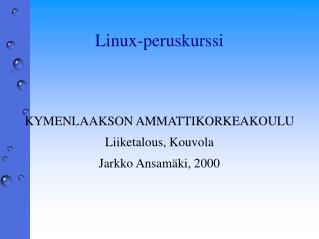 Linux-peruskurssi