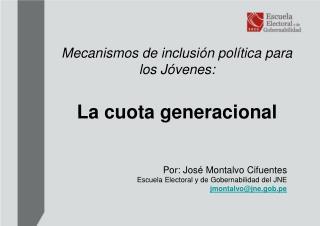 Mecanismos de inclusi n pol tica para los J venes:    La cuota generacional