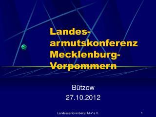 Landes- armutskonferenz Mecklenburg-Vorpommern