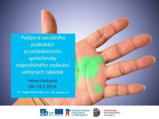 Podpora sociálního podnikání prostřednictvím společensky odpovědného zadávání veřejných zakázek
