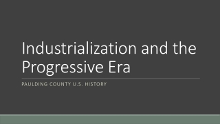 The Conservation Movement in the United States Late 19th