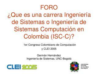UNIVERSIDAD NACIONAL DE COLOMBIA Sede Bogotá