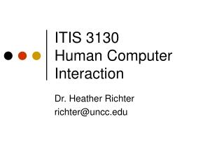 ITIS 3130 Human Computer Interaction