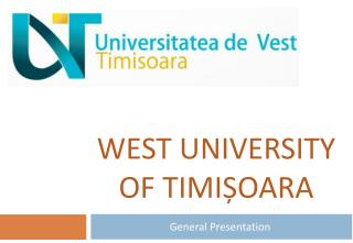 West University of  Timi ș oara