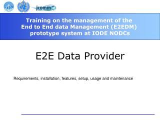 E2E Data Provider