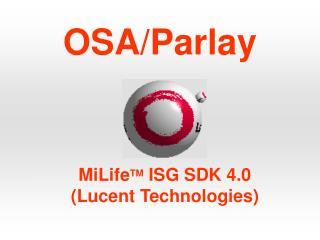 OSA/Parlay