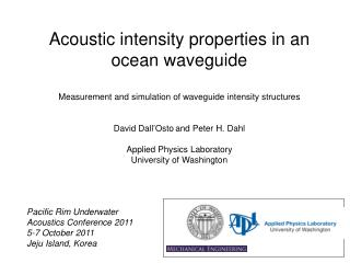 Acoustic intensity properties in an ocean waveguide